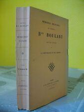 MEMOIRES MILITAIRES DU GENERAL BARON BOULART (REPUBLIQUE ET EMPIRE)