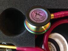 "3M Littmann Classic III 27"" Stethoscope RASPBERRY RAINBOW Chestpiece # 5806 NEW"