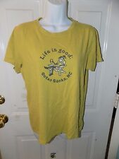 Life is Good Outer Banks, NC  Short Sleeve Shirt Size M Women's EUC
