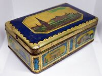 Very Old Soviet Empty Candy Tin Box - MOSCOW, Vintage, USSR, Ukraine, 1950s