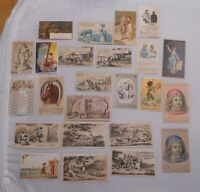 Victorian Trade Cards Lot 24pc Quacks & Cures Parkers Best Hoods Bitters Graves+