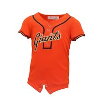 San Francisco Giants MLB Genuine Baby Infant Size Jersey-Style Creeper New Tags