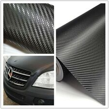 30*127cm Auto 3D Carbon Fiber Vinyl Car DIY Wrap Sheet Roll Film Sticker Decal