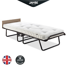 JAY-BE Supreme Single Folding Bed with Pocket Sprung Mattress and Headboard
