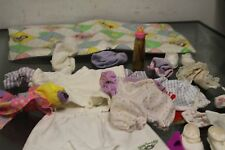 Bundle of 17 items Vintage Cabbage Patch Kids Doll Crib C+ dolls clothes