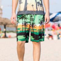 Men Shorts Trunks Coconut Tree Beach Short Pants Sports Swimwear Beach Wear 34