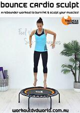 Rebounder Mini Trampoline EXERCISE DVD Barlates Body Blitz BOUNCE CARDIO SCULPT
