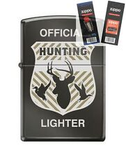 Zippo cm6296 official hunting badge Lighter with *FLINT & WICK GIFT SET*