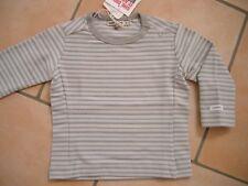 (X235) Gestreiftes Imps & Elfs unisex Baby Langarm Shirt mit Logo Aufnäher gr.80