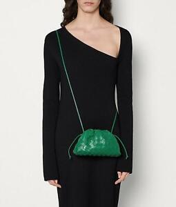 Bottega Veneta Auth NWT Leather Green Mini Bulb Crossbody Pouch Handbag