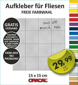 TOP Fliesenaufkleber Küche Bad Fliese Aufkleber Kachel glänzend 14,8 x 14,8 cm