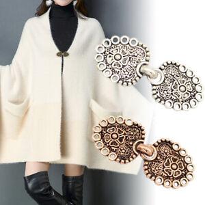 Women Cardigan Sweater Shawl Scarf Retro Buckle Clips Brooch Pins Clothes Decor