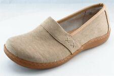 Born concept Loafers Beige Fabric Women Shoes Size 6 Medium (B, M)