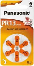 Panasonic 6x Hearing Aid PR48V13/PR48 PR13PR13 zinc-air hearing aid cell 1.4V