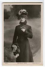 c 1905 British Theater Beauty BILLIE BURKE Edwardian Fashion photo postcard