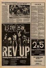 Revillos The Rev Up Tour Advert NME Cutting 1980