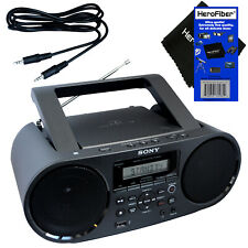 Sony Bluetooth & NFC Stereo Boombox w/CD Player, AM/FM Radio & USB + Aux Cable