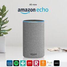 Amazon Echo Alexa(2nd Generation) Smart Assistant Speaker- Heather Grey Fabric
