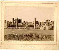 Algérie, Timgad, Vue du Forum  Vintage albumen print.  Tirage albuminé  17x2