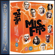MISFITS - COMPLETE SERIES SEASONS 1 2 3 4 & 5  ***BRAND NEW DVD BOXSET ****