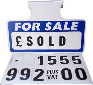 1  Blue For Sale Sign Board, Car Price/Pricing Sun Visor, Vehicle/Auto Price Kit