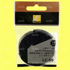 Genuine Nikon LC-58 Front Lens Cap 58mm Snap-On Lens Dust Cover Protector