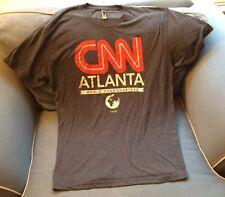"New Men's ""CNN"" News Atlanta Blue T- Shirt Size XL Extra Large Short Sleeves"