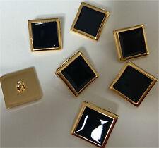 Set di 6 VINTAGE GOLD TONE Twist Bianco Dettagli impostazione pulsanti Designer Stile 25mm