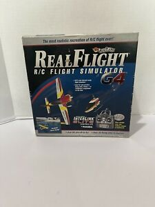 Futuba Real Flight R/C Simulator G4 Interlink Elite Controller 4 Disc, No Book
