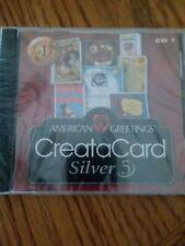 BRODERBUND AMERICAN GREETINGS CREATACARD SILVER 5 CD 1  BRAND NEW SEALED