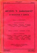 """ARCHIVIO """"E. MARAGLIANO"""" DI PATOLOGIA E CLINICA VOL. VII 1952 FASC. 4 Tiroide"""