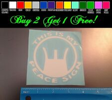 This is my peace sign WHITE Sticker decal Car laptop bumper gun scope hunting AK