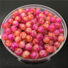 50Pcs 6mm Double Color Glass Pearl Round Spacer Loose Beads Jewelry Making 6#62