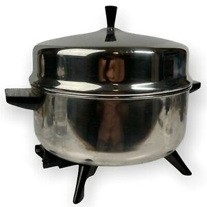 Vintage Farberware 5 QT Pot-Pourri 320A Stainless Immersible All Purpose Skillet