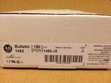 Allen Bradley 1492 J3 Feed Thru Screw Terminal Block 3mm Gray Box Of 100 Pcs
