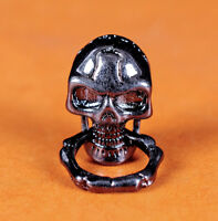 6X Skull with Ring Concho Biker Wallet Purse Chain Connnector DIY LeatherCraft