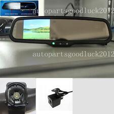 """Auto dimming rearview mirror+3.5"""" backup LCD+camera,fit Hyundai,KIA,Ssangyong,UK"""