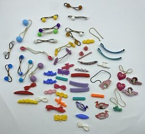 Lot Of Vintage 80s Snap Plastic Goody Hair Clip Barrettes Ties My Little Pony