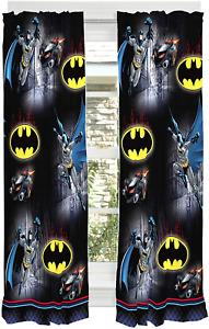 "Franco Kids Room Window Curtain Panels Drapes Set, 82"" x 63"", Batman"