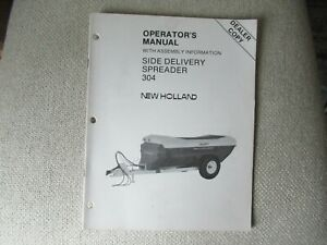 1986 New Holland 304 side delivery manure spreader operator's manual