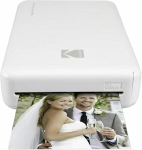 Kodak Mini 2 HD Wireless Portable Mobile Instant Photo Printer, Basic, White