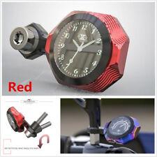1Pcs Red T6 Aluminum Motorcycle Accessories Waterproof Luminous Watch Clock