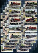 WILL'S Cigarette Card Set - RAILWAY LOCOMOTIVES - 1930 - GWR LM&S Southern L&NE