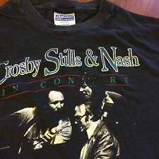 Vtg Crosby Stills & Nash T Shirt s L Rock In Concert 1984 CSN Tour PRIORITY MAIL
