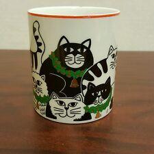 Black & White Cat Kitten Christmas Family Photo Shoot Coffee Mug