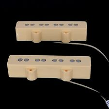 Lindy Fralin  Jazz Bass Pickup Set - CREAM Covers PLUS + 5% overwound
