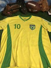 Gol Soccer Jersey Brazil #10 Yellow Green Polyester Medium c15