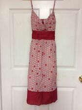 Speechless ladies dress junior size 11 red multicolored geometric pattern new 90