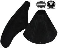 BLACK STITCH FOR TOYOTA SUPRA MKIV MK4 1993-2002 FAUX SUEDE GEAR HANDBRAKE SET