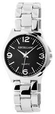 Excellanc Damen Armbanduhr 36 mm Metallarmband Edelstahl Armband Uhr Schwarz